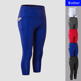 $enCountryForm.capitalKeyWord Canada - FNMM High Elastic Sexy Yoga Pants With Pockets Calf-Length Sport Pants Fitness Gym Workout Running Tight Sport Leggings