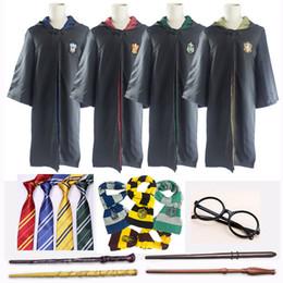 Хэллоуин костюм халат плащ с галстуком шарф Гриффиндор Слизерин Равенкло Хаффлпафф для взрослых детей Гарри Поттер халат плащ косплей