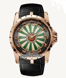 China Best Version 45mm Excalibur 45 RDDBEX0398 18K Rose Gold Knights Of The Round Table Color Enamel Dial Miyota Automatic Mens Watch Leather cheap watch 45 suppliers
