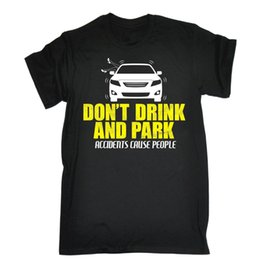 Birthday Party T Shirts Australia - Dont Drink And Park T-SHIRT Drink Party Pregnant Beer Dogging Gift Birthday