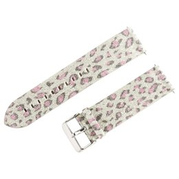 leopard prints watch UK - Vintage Leopard Printed Wrist Band Bling Glitter Leather Wrist Strap Replacement Strap Watch Band For Watches 2018 relogio 35