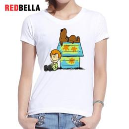 $enCountryForm.capitalKeyWord NZ - Women's Tee Redbella Ulzzang Harajuku T-shirt Vrouwen Cartoon Figure Dog Printed Clothing Top White Cotton Fashion Remeras Mujer Verano 2017