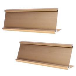 Держатель именной таблички офиса металла, 7-1/16 x 2inches (золотистый цвет или серебряный цвет)