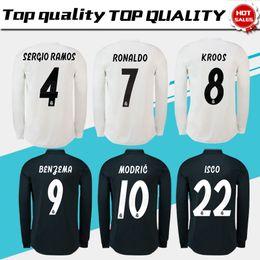 8f1ea81271c7f Camiseta de fútbol Real Madrid de manga larga completa 18 19 Camiseta de  fútbol Real Madrid   11 BALE   22 Camiseta de fútbol ISCO tercera roja  talla S-3XL