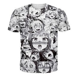 a89c3c5b0aa Ahegao Anime 3D T Shirt Men Women New Fashion Hip Hop Streetwear Tops Tees  Casual Funny Graphic Tshirt Plus Size S-5XL Dropship