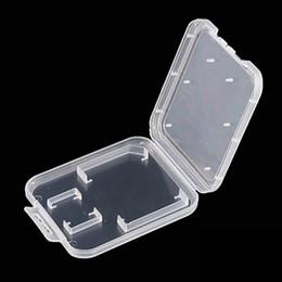 Transparent Cards Australia - 1000pcs lot Transparent Clear Standard SD SDHC Memory Card Case Holder Box Storage Carry Storage Box for SD TF Card