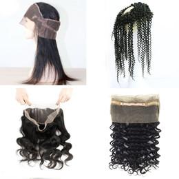 $enCountryForm.capitalKeyWord NZ - 360 Lace Frontal Closure Raw Virgin Indian Hair Straight Body Wave Deep Wave Kinky Curly Unprocessed Virgin Human Hair Natural Color
