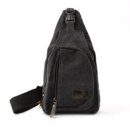 89d580cdcf Fashion Men Canvas Chest Bags Brand New Design Solid Zipper Travel  Crossbody Bags High Quality Male Sling black coffee grey