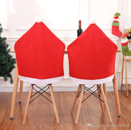 $enCountryForm.capitalKeyWord Australia - Cover Santa Claus Hat Shape Christmas Chairs Decoration Supplies Christmas ornaments for Festival Party Home Decoration