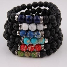 Rock Beads Charms Bracelets colorized Beads Natural stone Strands Bracelet For Fashion Jewelry Crafts Christmas Gifts