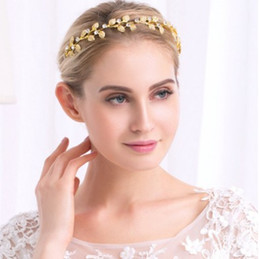 hair vine crystal NZ - Nice Party Wedding Band - Gold Silver Color Leaf Crystal Bridal Head Pieces Hair Vine Wedding Hair Accessories