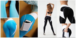 Leggings Sport Pants Canada - Sportswear Yoga Pants Fitness Yoga Leggings Push Up Running Sport Tights Women Workout Yoga Clothing Activewear for Women black blue stock