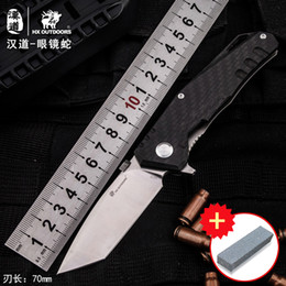 $enCountryForm.capitalKeyWord Australia - HX OUTDOORS Cobra Titanium Tactical High Hardness Folding Knife Field Surge Army Self-Retractable Knife Cutter Outdoor Knife