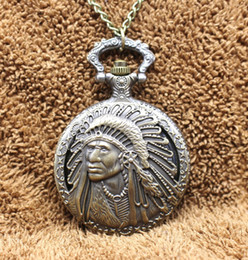 Discount indian watches - Antique Retro Indian People Quartz Pocket Watch Chain Bronze Watches for Men And Women Gift Relogio De Bolso