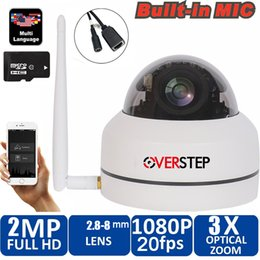 outdoor pan tilt cameras 2019 - Security PTZ Cameras Dome Pan Tilt Zoom 3X Camera Wifi Outdoor Network Wireless 1080P P2P Mini Wi-fi Camera with micphon