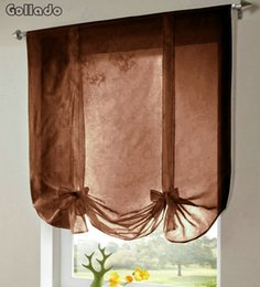 $enCountryForm.capitalKeyWord Canada - WR558 Solid Color European Style Tulle Wave Blinds Window Curtains Living Room Balcony Tieblinds Curtain 1pcs