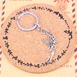 $enCountryForm.capitalKeyWord Canada - Keychain angel girl Pendants DIY Men Jewelry Car Key Chain Ring Holder Souvenir For Gift