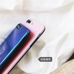 $enCountryForm.capitalKeyWord Canada - New Men Women Sweet Love Heart Couple Glossy Back Cover Blue light Protection Phone Case for iPhone 6 6S 7 8 Plus X