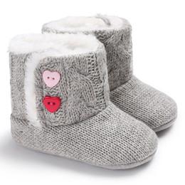 Crochet Baby Boots NZ - Winter Baby Girls Boys Crochet Knit Woolen Soft bottom Toddler Snow Boots Shoes fashion novel warm trend cute wild lovely