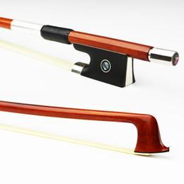 Natural Violin Canada - Master NEW 4 4 Genuine Pernambuco Violin Bow Natural Mongolia Horsehair Ebony Frog Fast Response Violin Parts Accessories