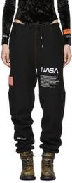 Full Clothes UK - Heron Preston x NASA 18FW NASA Flag embroidery jogger pants Sportswear Vintage Trousers 2018 New Fashion Casual Pants Brand Clothing