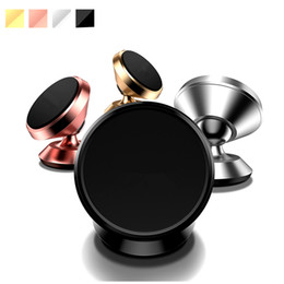 Phone holder for head online shopping - Premium Metal Alloy Magnetic car mount holder Rotation Swivel Head Cell Phone Stand Holders for Car Mounting Bracket for iPhone X