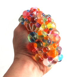 squishy toy balls NZ - Hot Sale Anti Stress Reliever Rainbow Grape Ball Squishy Phone Straps Mood Relief Hand Wrist Squeeze Toy Decompression Toys Novelty Items
