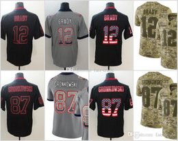 12 Tom Brady New Jerseys 87 Rob Gronkowski Patriots 2018 USA Flag Lights  out Black Color Rush Drift Camo Salute to Service Olive Limited a143e0d17