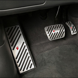 For Non-slip Audi A4 A5 A6 A7 A8 Q5 Q7 Foot Pedal Pad Cover Fit Gas Brake Rest Pedals Kit Accelerator Steel Covers on Sale