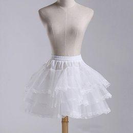 $enCountryForm.capitalKeyWord Australia - Short White Bridal Petticoats Hoopless 3 Layer Crinoline Bridal Lady Girls Children Underskirt For Wedding Accessories