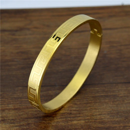 Love naiL online shopping - Titanium Steel Bangle Fashion Gold Color Eternity Love Bracelet Men Wristband Nail Bangle Screw Lovers Bracelets Bangles