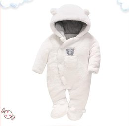 30f4d5621bc Newborn Boy Clothes Boutique UK - Boutique newborn baby girls boys rompers  thick warm kids clothing