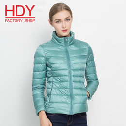 pink down coats for women Canada - HAODUOYI Plus Size Travel Women Fashion Down Coat for Women light warm Soft Down Coat 95% Down jacket Women 12 Color S-3XL