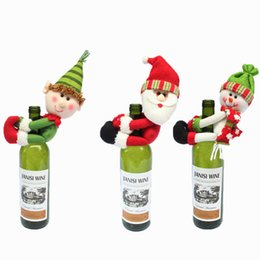 $enCountryForm.capitalKeyWord NZ - 2018 Christmas Snowman Santa Claus Gift For Wine Bottle Decorations Supplies Ornament Home Da Decoracao De Natal Adornos Navidad Y18102609