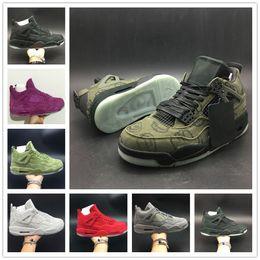 Designer names online shopping - KAWS Basketball Shoe s SHOE NAME Green Purple Red Cool Grey Black Beige Suede Graffiti Designer Mens Sport Sneaker