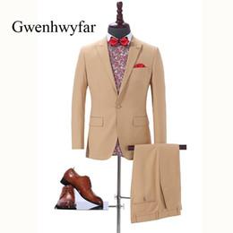 $enCountryForm.capitalKeyWord Canada - NEW Brand Men's Two Piece Set White Stripe Dress Suits Wedding Suits For Men Tuxedo Gentle Modern Double Breasted Blazer Pants