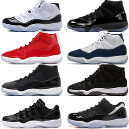rubber eva latex 2019 - 11 11s Cap and Gown Prom Night Mens Basketball Shoes Gym Red Bred PRM Velvet Heiress wine Barons Concord men Sport Sneak
