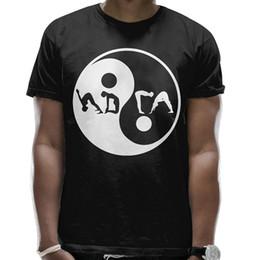e24a64a95218 Mens Yin Yang Yoga Cool Short Sleeve T Shirt 2018 New Fashion T Shirt Men  Funny Tee Shirt Hipster Summer Solid Color