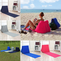 Wholesale 150 cm Inflatable Pad Inflatable Beach Mat Outdoor Flocking Triangle Inflatable Pillow Cushions Outdoor Pads sofa MMA937