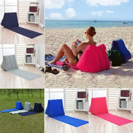 Sofa flocked online shopping - 150 cm Inflatable Pad Inflatable Beach Mat Outdoor Flocking Triangle Inflatable Pillow Cushions Outdoor Pads sofa MMA937
