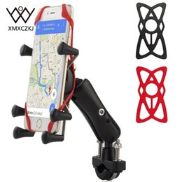 universal phone holder for bike Australia - Universal Bike Bicycle Motorcycle MTB Bike Phone Holder Adjustable Rail Mount X-Grip Phone Holder For iPhone For Samsung For GPS