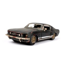 Chinese  1 24 1967 Ford Mustang GT black Diecast Model Car toy Car Toys For Boys Children Gifts Collections Displays manufacturers