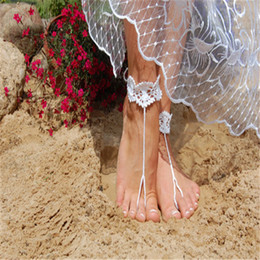 $enCountryForm.capitalKeyWord Australia - White Fashion Women Beach Shoes,Crochet Barefoot Sandals, Wedding Nude Shoes Accessories Nude shoes.