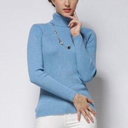 $enCountryForm.capitalKeyWord NZ - Women Sweater Cashmere blend Knitting Jumpers 28 colors Ladies Pullovers Turtleneck Woolen Knitwear Standard clothes Girls Tops S18100803