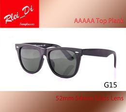 Hinged Mirrors NZ - Luxury Plank Frame G15 Glass Lens Sunglasses Womens Men Sunglasses Eyeglass Designer UV400 Metal Hinge Mirror 52MM 54MM Eyewear With Case