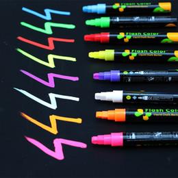 Pen Boards UK - 1 PC Liquid Chalk Marker Pens Erasable Multi Colored Highlighters LED Writing Board Glass Window Art 8 Colours Marker Pens