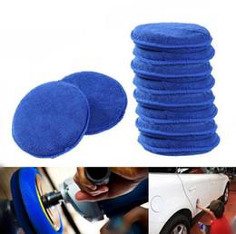 Discount car polishing sponge - Round Soft Microfiber Car Wax Applicator Pads 12cm Waxing Sponge Polishing Sponges Remove Wax Car Accessories OOA4603