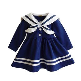 $enCountryForm.capitalKeyWord UK - Anlencool Fashion Spring Korean girls navy sailor suit dress 2017 Brand new summer child college wind girls dress Baby clothing