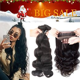 wholesale brazilian virgin hair NZ - Brazilian Human Hair 3 Bundles with Frontal Closure 360 Lace Frontal with Bundles Brazilian Body Wave Virgin Hair with 360 Lace Frontal