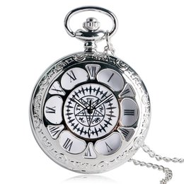 Wholesale Antique Pocket Watch Kuroshitsuji Black Magic Design Pocket Watches for Men Casual Quartz Pocket Watch Gift